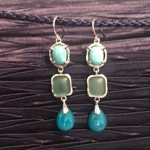 SILPADA Turquoise Howlite Quartzite Glass Earrings